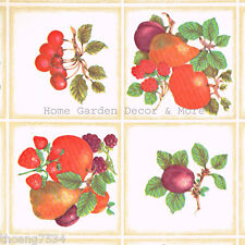 Fruits Tiles Kitchen Vinyl Laminate Contact Paper Shelf Drawer Liner Peel Stick