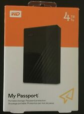 WD WDBPKJ0040BBK-WESN My Passport 4TB External Hard Drive - Black