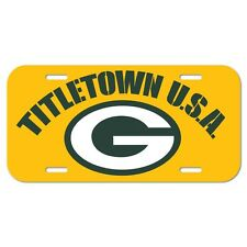 "GREEN BAY PACKERS TITLETOWN U.S.A. 6""x12"" LOGO LICENSE PLATE CAR NEW WINCRAFT"