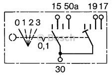 Schalter Vorglühen - Bosch 0 342 315 001