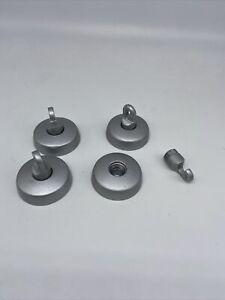 4x Wandhaken / Umlenker / Ikea Norrsken / Halogen Seilsystem silber/ matt