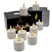 Luminara Moving Flicker Led Tea Lights Battery Operated with Timer for Wedding