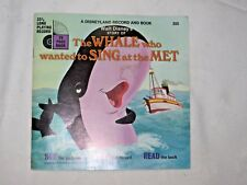 1970 Early Read Along Book & Record Walt Disney's The Whale Who Wanted. LLP 355