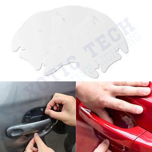4PCS Invisible Car Door Handle Scratches Clear Protective Films Sheet Guard HOT