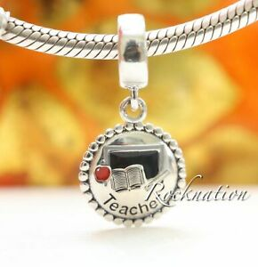 Authentic Pandora Teacher Dangle Sterling Silver Charm Mixed Enamel ENG791169_47