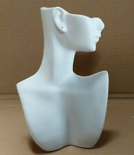 Less Than Perfect 184 B White Self Standing Jewelry Display Bust With Pierced Ear