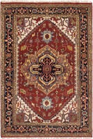 "Hand-Knotted Carpet 4'0"" x 6'0"" Traditional Oriental Wool Area Rug"