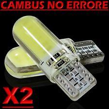 2 Led T10 Lampade Gel Silica SMD COB No Errore Canbus BIANCO Xenon Lampadine W5