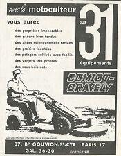 W5008 Motocoltivatore Comiot-Gravely - Pubblicità 1962 - Advertising