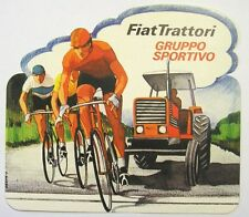 VECCHIO ADESIVO / Old Sticker FIAT TRATTORI CICLISMO BIKE (cm 17 x 15)
