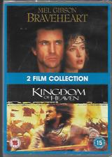 BRAVEHEART/KINGDOM OF HEAVEN R2 DVD 2 ON 1 MEL GIBSON ORLANDO BLOOM NEW/SEALED