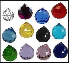 Crystal BALL 40mm Clear PINK Lilac BLUE Black VIOLET Green LEMON Red Suncatcher