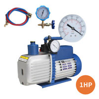 4.5 / 8CFM Vakuumpumpe Unterdruckpumpe Kompressor Zweistufig Klimaanlagen