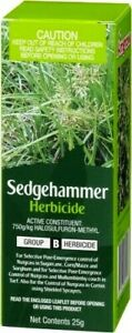 Weed Killer Amgrow SEDGEHAMMER Herbicide 25G - Kills Nutgrass Mullumbimby Couch