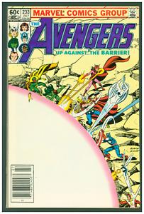 Avengers #233 VF/NM Marvel 1983  Scarlet Witch & Captain Marvel Cover Newsstand