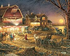 Jigsaw puzzle Farm Life Harvest Moon Ball 1000 piece NEW Made in the USA