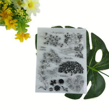 Lifelike flower tree and tower scrapbook diy photo albums cards 'silicone staWD