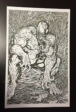 "VENOM Original Art by Chris McJunkin ""Spider-Man #1 Todd McFarlane Homage"""