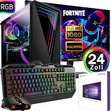 Gamer PC Komplett-Set INTEL i5 10400 6x 4,3GHz - Radeon RX550 4GB OC Gaming B460