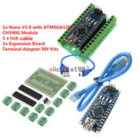 Micro Contoller 5V Welded NANO V3.0 CH340G Arduino Bootloader CHIP+Breakoutboard