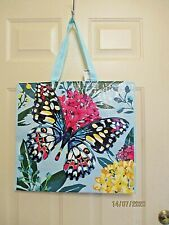 TJ Maxx Shopping Tote Bright Butterfly Eco Friendly  Reusable NEW