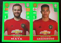 2020 FIFA 365 Panini Sticker Juan Mata Mason Greenwood Manchester United #65