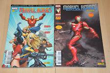 lot 2 albums Marvel Heroes tomes 1 et 5 / Iron Man - Panini Comics