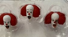 PENNYWISE HEADS Qty of 3 ACCESSORIES Neca STEPHEN KING 2018 Loose