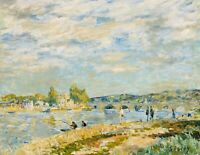 Alfred Sisley Home Decor Fine Art Print on Cotton CANVAS Giclee Small Size 8x10