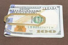 Money Clip Solid 14k Yellow Gold  Angular Paperclip Style 9g Handmade Custom