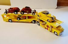 100% HW '56 FORD CAB OVER AUTO TRANSPORT CAR HAULER RARE LIMITED EDITION DIECAST