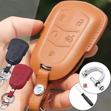 CADILLAC Genuine Leather key keychain cover case remote holder CT6 ATS XTS XT5