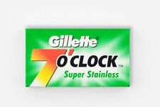 100 x Gillette 7 O'Clock Super Stainless Double Edge Razor Blades
