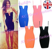 Woman Boutique Going Out Clubbing Bodycon Deep Plunge Bustier Bra Low Cut Dress