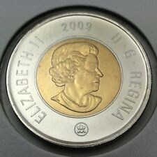 2009 Canada 2 Two Dollar Toonie Brilliant Uncirculated Coin Not In Case D375