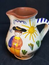 Pitcher Portugal Pottery Flosa Redondo Terracotta Hand Painted