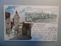 Ansichtskarte Ueberlingen Überlingen Bodensee K Mutter Künstlerkarte  Litho 1897