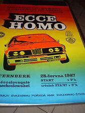 Poster Plakat   Bergrennen 1987 Sternberk BMW France Alpina BMW
