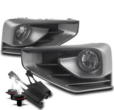 Bumper Driving Fog Light Lamp Chrome W/50W 6000K Hid+Switch For 17-18 Pathfinder