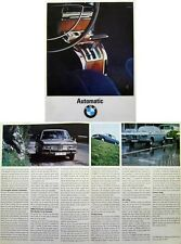 BMW 1800 2000 2000 CS Automatic original UK sales Brochure 1967-68 No. 12321 e 5