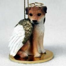 Small Angel Border Terrier Dog Breed Angel Christmas Holiday Ornament