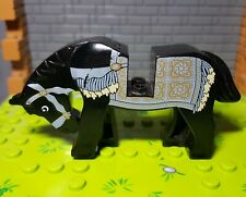 Lego Horse 4493c01pb06 Prince of Persia Black with Persian Blanket Pattern