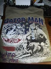 Swamp People - Gator Man Bruce & Taylor T Shirt -. Size Large NEW