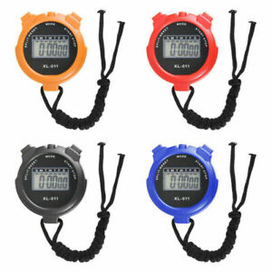 Portable Digital Handheld Sports Stopwatch Stop Watch Timer Alarm Counter