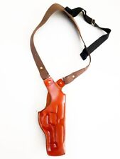 Colt 1911 Leather Vertical Shoulder Holster Right Hand Premium Genuine Leather.