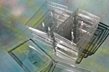 Lot of Clear Semi-Soft Plastic Cassette Jewel Cases, Set of 10  FREE SHIP!