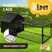 i.Pet Rabbit Cage Hutch Pet Cages Indoor Bunny Hamster Enclosure Carrier Metal