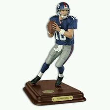 """RARE"" NY GIANTS QB ELI MANNING SCULPTED NFL PLAYER STATUE BY DANBURY MINT"