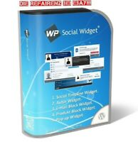 Word Press WP SOCIAL WIDGET Timeline Autor EMail Block Produkt PopUp PLR Lizenz