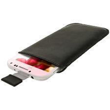 Schwarz Leder Tasche für Samsung Galaxy S4 IV I9500 Android Hülle Halter
